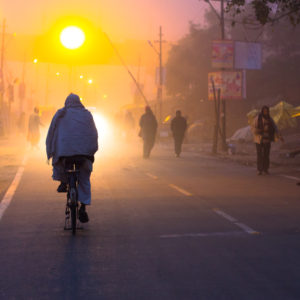 Allahabad Streets: foggy morning